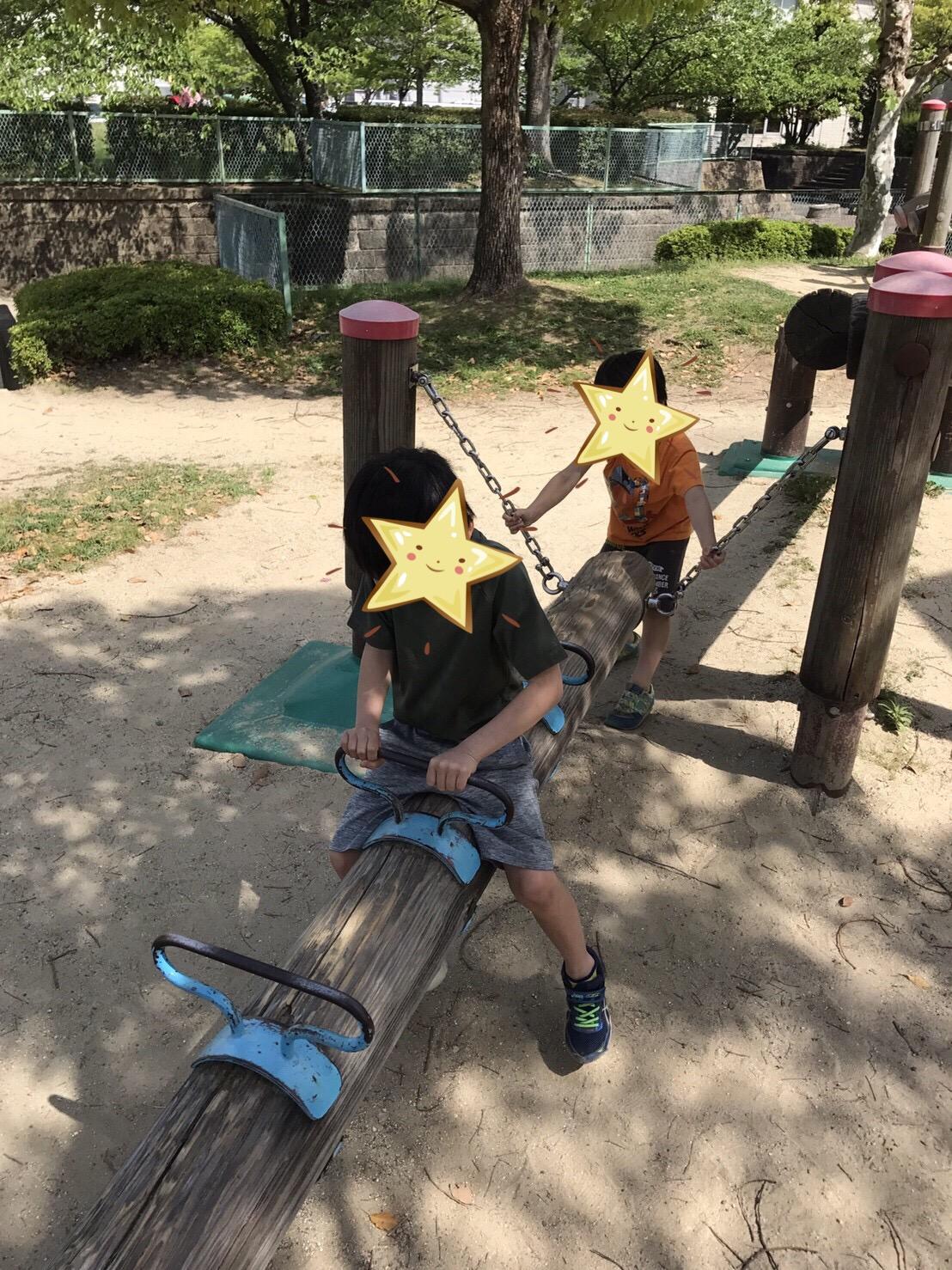 子どもたちと公園に出掛けてきました!!